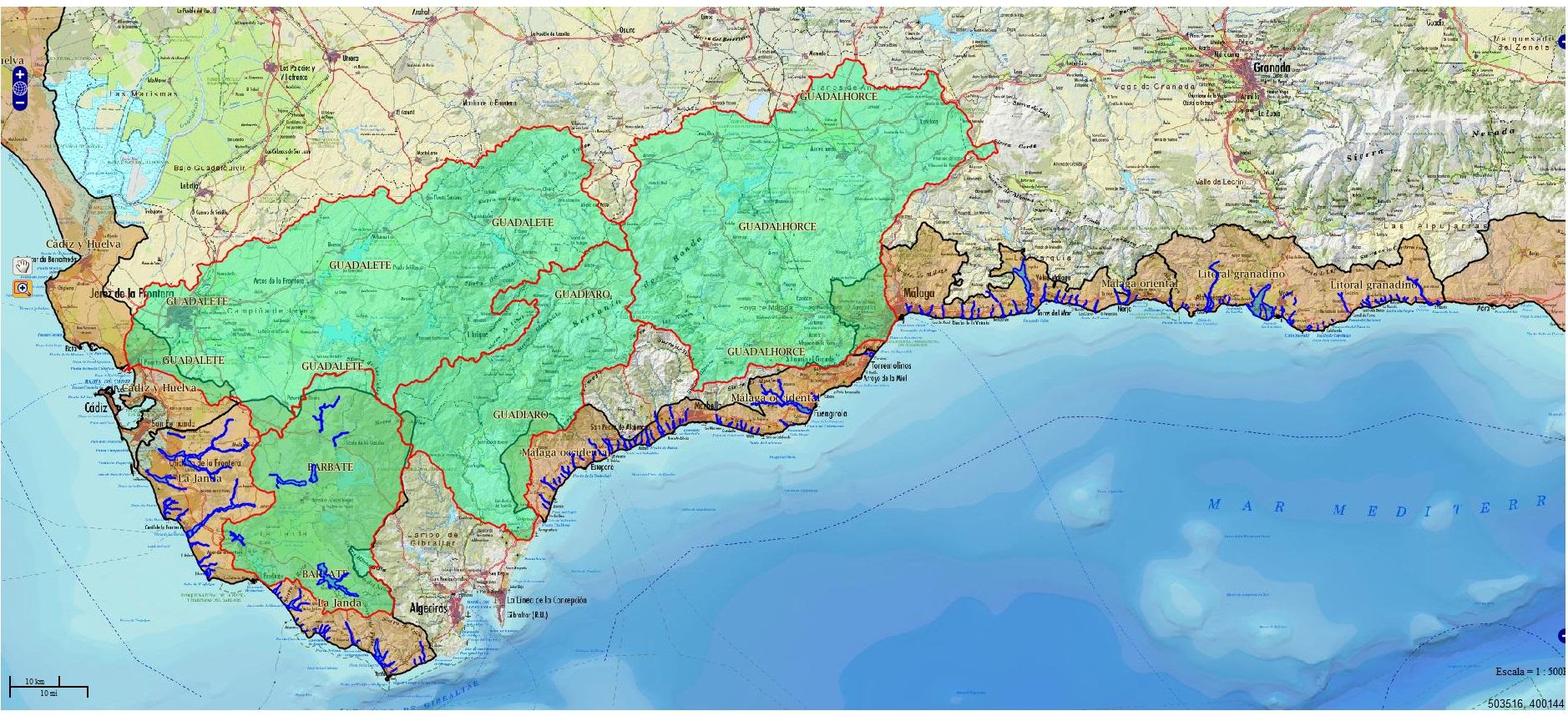 Zonas de riesgo de inundacin en Andaluca  Medio Ambiente