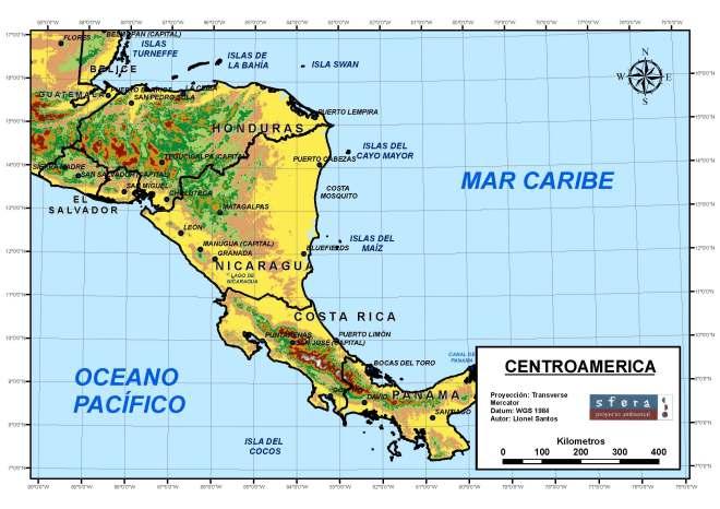 TAREA 4  Mapa detallado de Centroamérica V 1