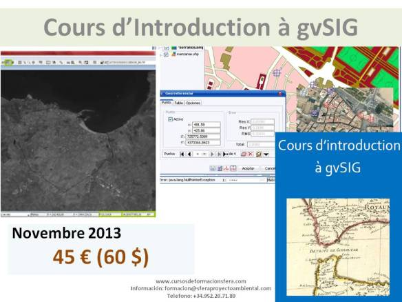 Cours d'Introduction à gvSIG