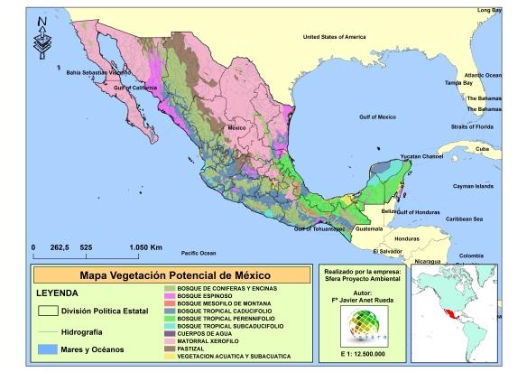Mapa Vegetacion Potencial Mexico