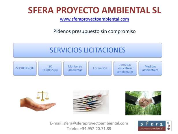 licitación, medio ambiente, españa, Málaga, Madrid, Andalucía, Almería