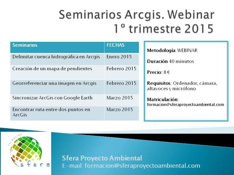 Seminarios Arcgis_2015_SFERA_AMBIENTAL