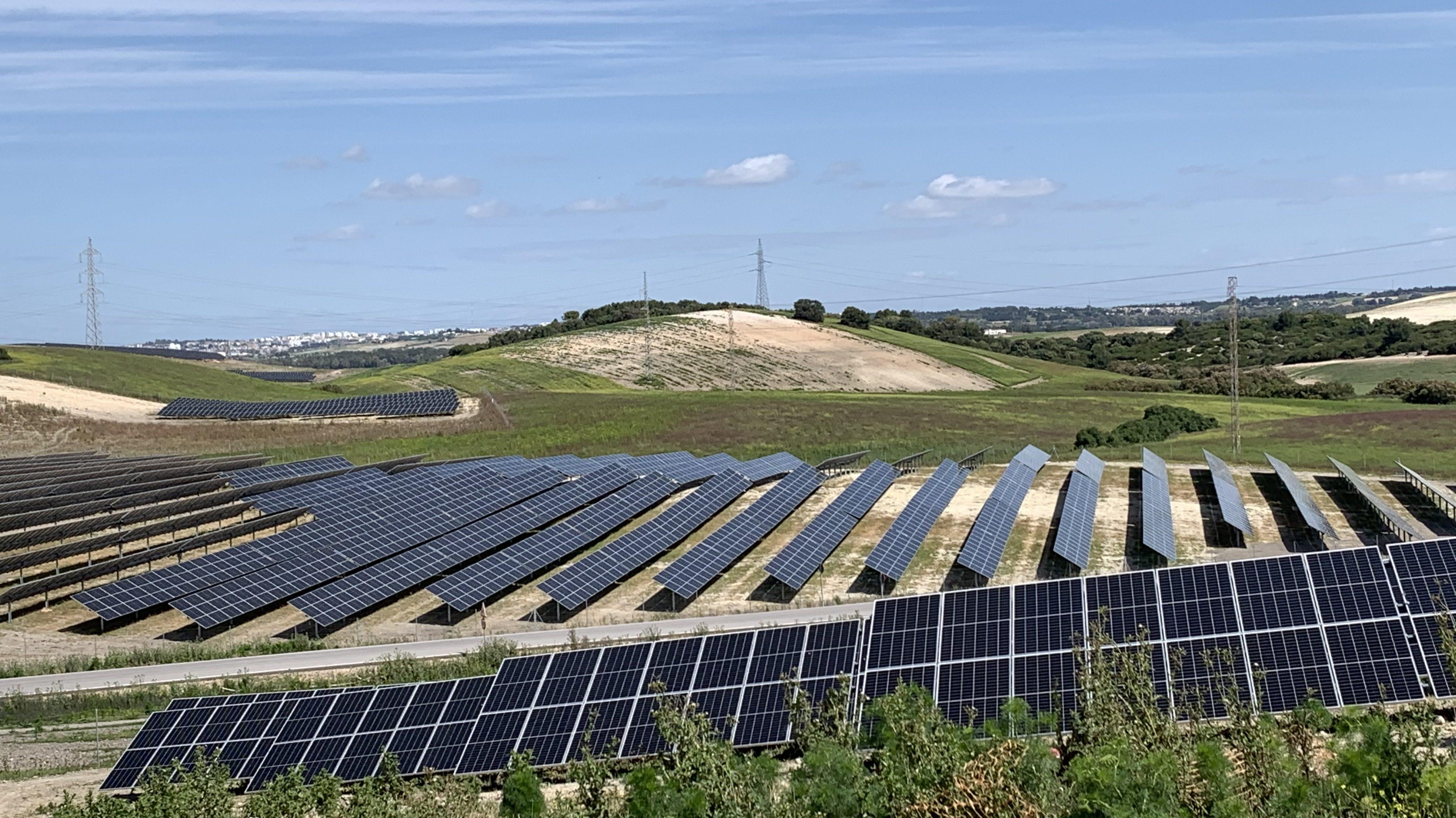 Parque solar fotovoltaico en Andalucía en fase de ejecución. Sfera Proyecto Ambiental