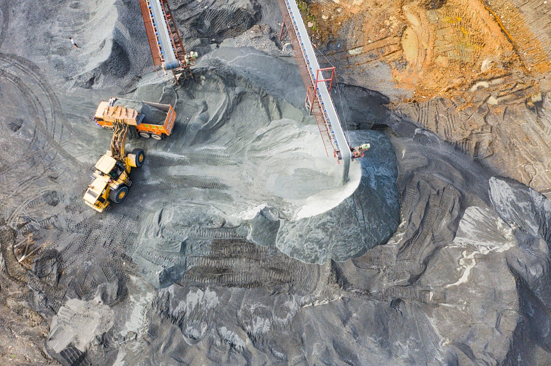 MIna de carbón, vista aérea