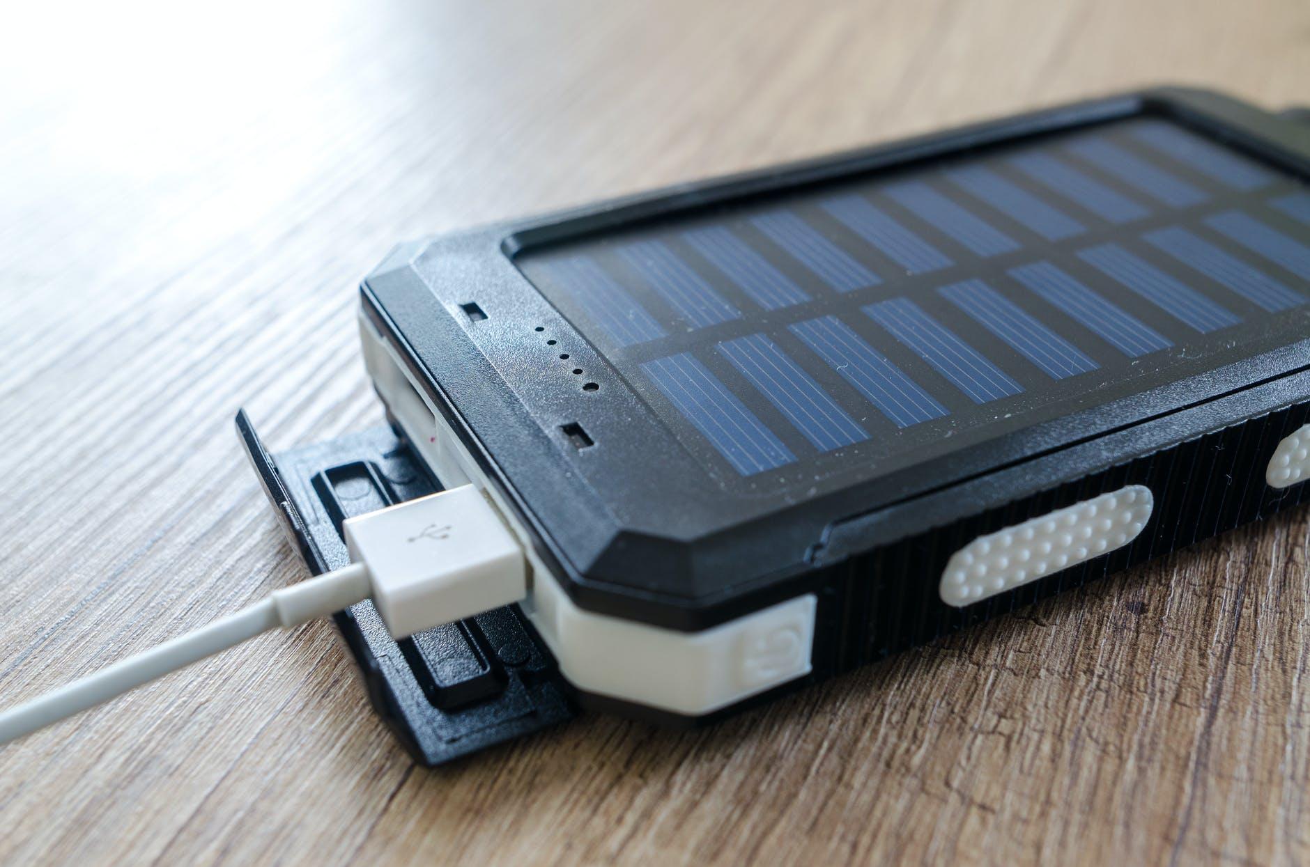 batería solar portatil